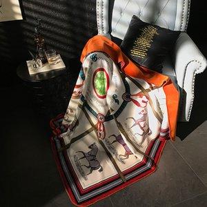 H cachemire Couverture souple Crochet écharpe de laine Châle chaud Portable Plaid Canapé-lit Toison Tricoté Throw Towell Cape Rose Couverture