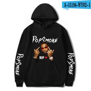 Pop Smok Print Mens Hoodies Long Sleeve Hooded Males Pullover Hoodies Cardigan Zipper Males Casual Sweatshirts