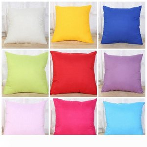 Home Sofa Pillowcase Pure Color Pillow Cover Polyester White Pillowslip Cushion Cover Decor Pillow Case Blank Christmas Decor Gift SF09-k