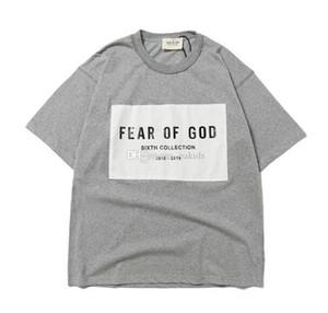 Nuova paura di arrivo DI DIO Essentials Uomo Donna Designer Sesto Collezione T Shirt Estate Uomo sportivo cotone manica corta Via FOG