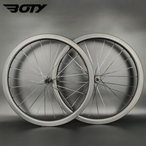 Ruote di carbonio completa Super Light 700C 38mm Profondità 25mm Larghezza Larghezza Clincher / Tubeless / Tubular Road Disc Brake Bike Wheelset UD Finitura opaca