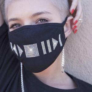 Европейские и американские моды Женщины Вуаль стекла Rhinestone маска Sexy Veil Рождество Fun Face Украшение партии Кристалл Pearl Mask