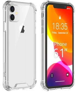 Clear Acrylic Hard Back Shockproof Case for iPhone XS 11 Pro Max XR 6 7 8 Plus SE 2020 5G Samsung S20 Note 10 A21 Huawei Moto LG Xiaomi