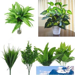 Simulation Pflanze Künstliche Pflanze-Dekor-Blumendekor Bush Gefälschte Pflanzen Kunststoff 30cm Schöne Büro Garten Blatt im Freien
