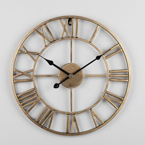 Avrupa Tarzı Duvar İzle Basit Salon Saat Demir Sessiz Dijital Duvar Saati Yaratıcı Dekoratif Saat Sıcak Satış
