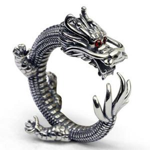 Raffreddare Super Thai Anelli d'argento di stile della roccia solido argento 925 Thumb Ring Men commercio all'ingrosso dei monili