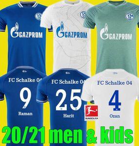 homens crianças 20 21 Schalke 04 camisas de futebol kit 2021 Início 2020 de distância camisas de futebol SERDAR OZAN Harit Raman Bentaleb MC Kennie KUTUCU