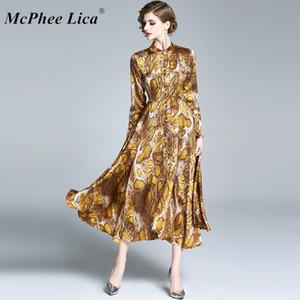 Vestito estivo Estate Moda Pelle di leopardo maxi vestito delle donne 2020 Beach lungo sexy Abiti Donna vita alta Robe 5XL # 60