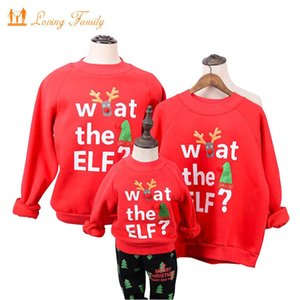 Family Matching Outfits New Year Christmas Winter Sweater Baby Rompers Father Mother Children Polar Fleece Men Women Warm Shirt