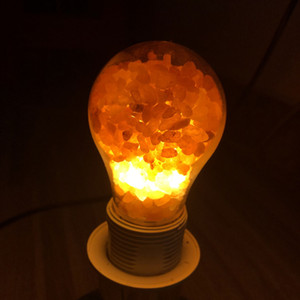 Factory direct Himalayan salt lamp crystal salt bulb rose salt bulb creative bedroom bedside night light