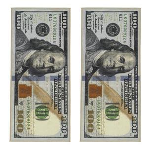 Crative non-Slip Tapis Modern Home Décor Dollar Tapis Runner imprimé Tapis de cent dollars 100 Bill Imprimer