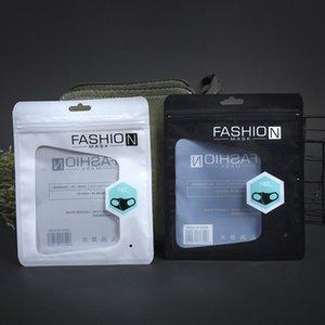 emballage masque anglais transparent de haute qualité sac en plastique auto d'étanchéité sacs d'emballage personnalisés masque blanc 15x18cm noir Livraison gratuite DHL de