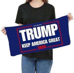 Microfibra Trump tovagliolo di fronte 35 * 75cm elezioni americane Quick Dry assorbente Sport Asciugamano rendere l'America Great Again Asciugamani LJJO8211