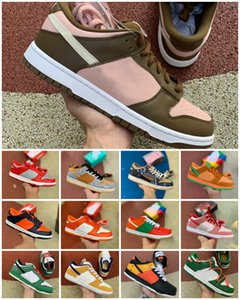 New SB Dunk x Travis Scotts Low Sp Hommes Courir Sports Chaussures Chunky Dunky Université Safari Red Raygun Dunks Strangelove Chaussures Planches à roulettes