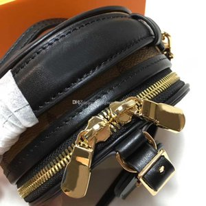 Frauen Querleichensäcke MINI BOITE CHAPEAU Frauen Schultertaschen aus echtem Leder Kuriertasche Dame Portemonnaie weibliche Box Tasche mit Box