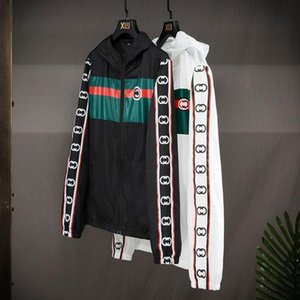 2020 Мода женщин людей куртка ветровка с длинным рукавом куртки ZippeR Тонкий солнцезащитный крем с капюшоном куртка Letter Pattern Плюс Размер одежды S-5XL
