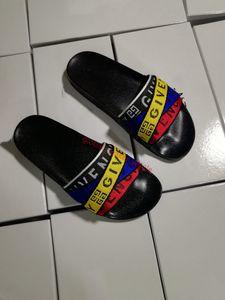 2019 Newest progettista slipper Gear bottoms mens slide striped sandals causal Non-slip summer slippers flip flops xshfbcl slipper