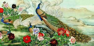 Großer Vogel-Weinlese-Deco-Segeltuch-Wand-Kunst-Malerei Wohnkultur Handbemalte HD-Druck-Ölgemälde auf Leinwand-Wand-Kunst Leinwandbilder 200