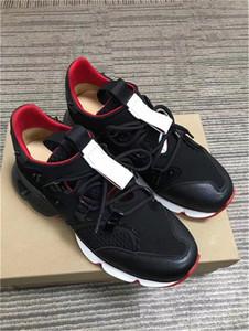 19s de Spike Krystal Sock Donna Donna Plano Runner Rivet parte inferior vermelha de calçados casuais Glitter do sol tênis New Loubi Run Sneakers n018