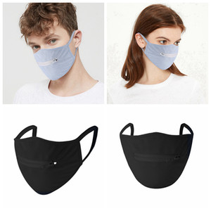 Zipper Face Mask Washable Reusable Breathable Cycling Mask Anti Dust Antifog Easy To Drink Designer Masks RRA3300