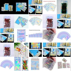 16X24Cm Resealable Cello Bags Wholesale Holographic Resealable Bags Translucent Pouches Designs Mask Packaging Bag Wcesp mmj2010 oWkXX