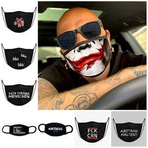 Desenhos animados crânio padrão Mask PM2.5 Anti face poeira preta 3D impresso Metade do rosto Máscaras bonito Máscaras Designer T2I51178