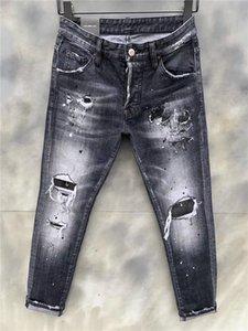 2020 summer thin jeans men's straight slim slim trousers men's pants light summer high-end pants tide