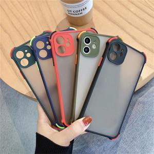 A prueba de golpes de lujo anticaída Protección de la lente caja del teléfono para iPhone Pro Max 11 7 8 más la caja de XS XR X Cubre translúcido Protección contraportada