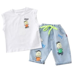 Baby suit fashion kids Boys Clothing Set Casual T-shirt Denim pants infant Suits Kids Clothes jeans boy's 2pcs
