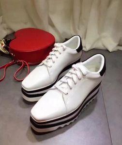 Stella Mccartney 2019 New Arrival Sneak-Elyse Women Genuine Leather Platform Shoes