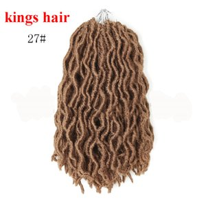 Soft Dread Locks Hair Extension Crochet Braids 12 Inches 18strands pack Brown Synthetic Brading Hair Bundles for Women