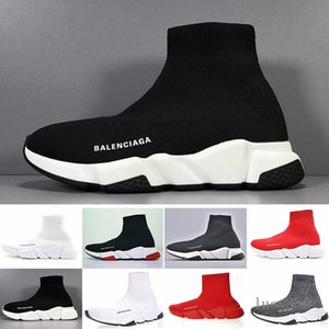Sneakers Speed Trainer Black Red Gypsophila Triple Black Fashion Flat Sock Boots Casual Shoes Speed Trainer Runner With Dust Bag J2EKS