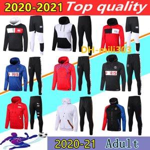 20 21 paris futbol kapüşonlu eşofman ceket survetement 2020 2021 MBAPPE Icardi futbol ceketler set hava jordam futbol kapüşonlu eşofman