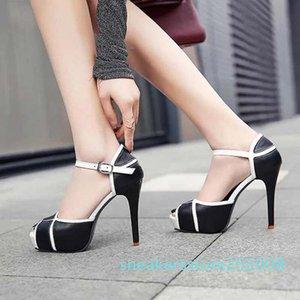 neue Frauenschuhe Sandalen beste Qualität High heels Sandale-Pantoffel Huaraches Flip Flops Slipper Schuh Für Slipper shoe10 P6 s08