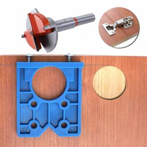 Pasador plantilla de 35 mm Bisagra de plástico ABS de calar Sierra circular para madera Taladro Muebles Bisagra 7tcc Instalación #