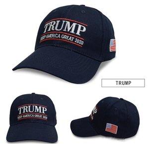 Вышивка Трамп 2020 сделать Америку здорово снова Дональд Трамп Бейсболка Шапки Шляпы США Флаг Взрослые Спортивная шляпа Бесплатная Доставка