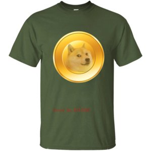 New Fashion Gold Dogecoin Men T-Shirt Men T Shirt Tshirt For Men Streetwear Round Collar Summer 2020 Short Sleeve Size S-5xl