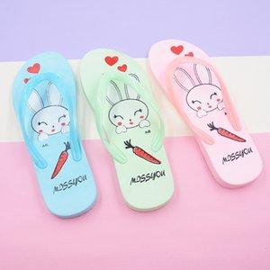 aREJJ Creative cartoon parent-child children Beach Summer Lady sweet and lovely soft sole shoes Flip-flops Sandals Flip-Flops bathroom sanda