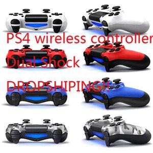 소매 패키지 LOGO 게임 컨트롤러 무료 HK 포스트 배송 PS4 조이스틱에 대한 충격 4 무선 컨트롤러 TOP 품질 게임 패드