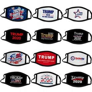 حار 2020 ترامب الرئاسية الانتخابات مصمم حملة وجه قناع قابلة لإعادة الاستخدام أقنعة الوجه الأسود ترامب قناع الطباعة قناع واقية ضد الغبار الفم