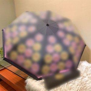 Cute Bear Зонтики цветов Медведь Printed Зонтик девушка женщин Портативного Зонтик Открытых Увы Защита Зонт подарки с коробкой Оптовым