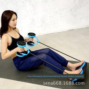 trainingfitness musculaire abdominale pour l'équipement de conditionnement physique des muscles abdominaux double roue multi-fonctionnelle des femmes roue Equipement femme