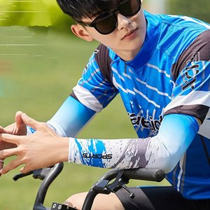 Men Cooling Arm Sleeves Cover Cycling Run Fishing UV Sun Protection Outdoor Arm Sleeves ALS88