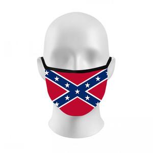 Bandera de Mississippi máscara de verano al aire libre del polvo anti transpirable Deportes mascarilla de las máscaras de la bandera Elección Trump 3D Impreso Cúbrase la boca LJJO8212