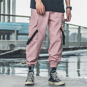 Hiphop Erkek Tasarımcı Pantolon Gündelik Çoklu Cep Nakış Kargo Pantolon Uzun Pantolon Yeni Sokak Stili Erkek Pantalon