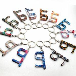 Мода Keyrings цветок Лифт Кнопки Бесконтактные инструмент Ручка двери Ключ ручка Безопасность Изоляция Нет Сенсорный открывалка брелок автомобиля кольцо