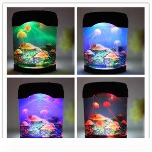 Nouvelle création Belle Aquarium Veilleuse Réservoir Piscine Mood Light Durable Home Decoration Simulation Jellyfish Lampe LED