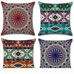 Pillow Covers Mandala Square Pillowcase Cotton Linen Throw Pillow Case Decorative Pillows Cushion Covers Sofa Seat Hotel Home Decor LYW2750