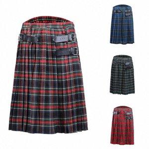 kilt Männer Rock für Männer Männer stirpe Shorts Scottish Herren Kilt Traditioneller Rock schottischer c7FR #