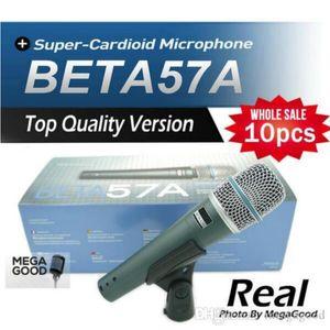 10pcs Echttransforme BETA57 Professionelle BETA57A Karaoke Hand Dynamische Wired Mikrofon Beta 57A 57 A Mic für Karaoke Live Vocals Bühne